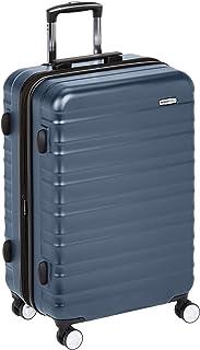 Amazon Basics Valise rigide à roulettes pivotantes de qualité supérieure avec serrure TSA intégrée - 78cm, Bleu Marine