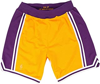 Mitchell & Ness Los Angeles Lakers Authentic Gold 1996-97 Shorts