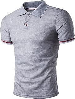 Sportides Mens Polo Shirts Contrast Collar Golf Tennis Short Sleeve Shirt Tops JZA012
