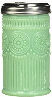 """Tablecraft Sugar Shaker with Stainless Steel Top, 3.0625"""" x 5.75"""", Green"""