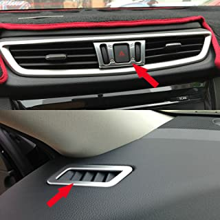 Fit For NISSAN Rogue QASHQAI 2014-2017 2018 Matte Interior Air Condition Vent Cover Trim