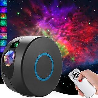 CAMPSLE Projektor z gwiazdą LED, mgiełką, 7 efektów świetlnych, do pokoju zabawy, kolorowy projektor do sypialni, oświetle...
