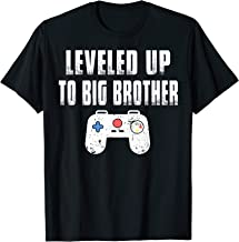Leveled Up To Big Brother Video Game shirt for Boy Gamer T-Shirt
