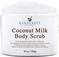 Handcraft Coconut Milk Body Scrub - All Natural - Super Hydrating, Exfoliating, and Moisturizing - Made With Dead Sea Salt...