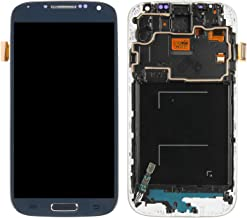 Screen Replacement for Samsung Galaxy S4, Compatible with SGH-I337 SGH-M919 LCD Display Touch Screen Replacement Digitizer Assembly with Repair Tools Kit (Not AMOLED) (Blue with Frame)