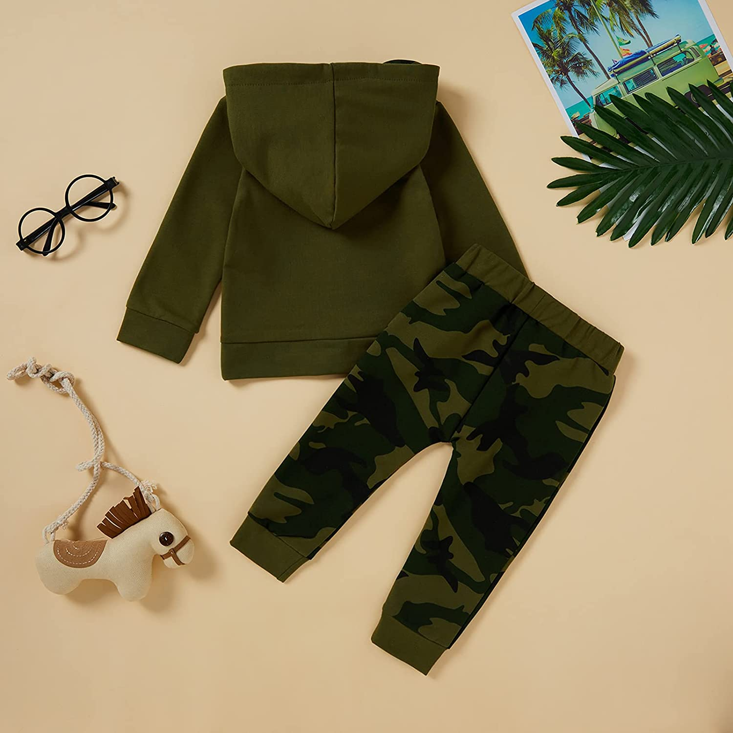Toddler Boy Clothes Baby Boys Hoodies Letter Printed Tops Camouflage Leggings Pants Autumn Winter Outfits