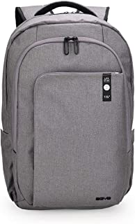 AGVA Heritage Business Laptop Backpack, Multi-Compartment, Weatherproof 15.6'' Laptop (Grey)