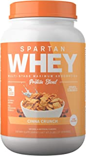 Spartan Whey: Best Rated Protein Powder Blend, Best Tasting Whey Protein Isolate, Concentrate and Micellar Casein Blend with AstraGin for Amino Acid Bioavailability, Cinna Crunch, 2 pounds