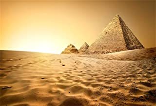 LFEEY 10x7ft Egyptian Pyramids Backdrop Egypt Ancient Architecture Ruins Photography Background Sky Clouds Photo Studio Props Adult Boy Girl Artistic Portrait Nature Scenic Vinyl Wallpaper