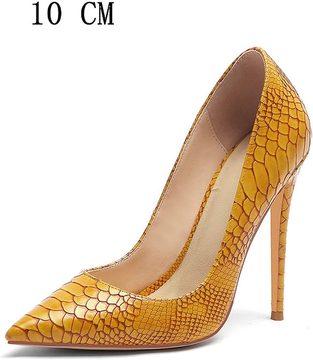 Snakeskin Women High Heels Valentine shoes Multicolour Heels Wedding Pumps