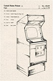 Arcade Video Game Cabinet Official Patent Diagram Cool Wall Decor Art Print Poster 12x18