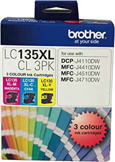Brother LC135XL Colour Value Pack 1XCYAN 1X Magenta 1X Yellow