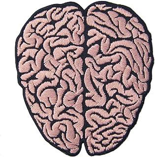 cervello patch stemma ricamato toppa termoadesiva