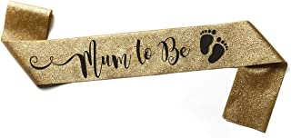 Sash for a Future Mum to wear at her Baby Shower - Glitter Gold