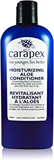 Carapex Aloe Moisturizing Conditioner, Fragrance Free for Color Treated & Damaged Hair, with Natural Proteins, Hemp Oil, Coconut Oil, Sulfate Free, Paraben Free, Silicon Free, 8 oz (Single)