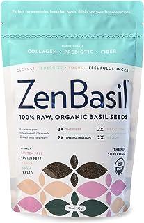 Zen Basil Seeds | Edible Basil Seeds USDA Organic, Kosher, Non-GMO, Lectin-free, Gluten-free, Plant-Based, Vegan, Keto, Pa...