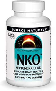 SOURCE NATURALS Nko Neptune Krill Oil 1000 Mg Soft Gel, 90 Count