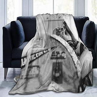 Tukiv Mad-onna - Manta de microforro polar ultrasuave de 152,4 x 127 cm, ligera, duradera, cómoda y cálida, universal para acampar