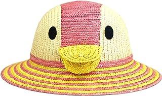 (田中帽子) 日本製 子供用 動物 麦わら帽子 (帽子 キッズ ハット アニマル 幼児 幼稚園 入園 おでかけ 紫外線 uv 熱中症対策 日焼け防止 日よけ 春日部 ギフト 誕生日 プレゼント) UKH010