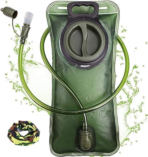 Hydration Bladder 2 Liter Leak Proof Water Reservoir, Military Water Storage Bladder Bag, BPA Free Hydration Pack, fo...