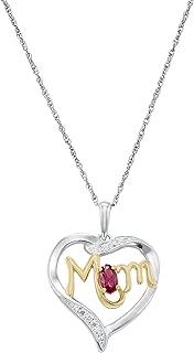 marine mom heart necklace