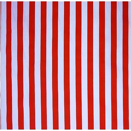 Red /& Yellow 13mm Stripe Polycotton Per Metre