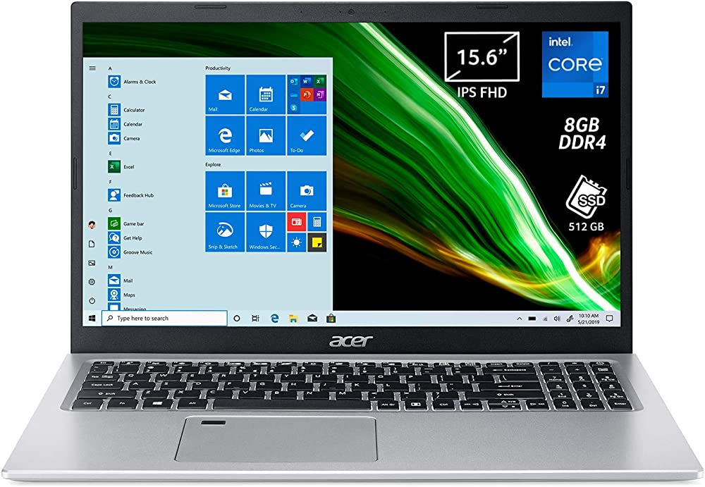 Acer pc portatile intel core i7 scheda grafica intel iris xe ram 8 gb ddr4 512 gb pcie nvme ssd NX.A1HET.004