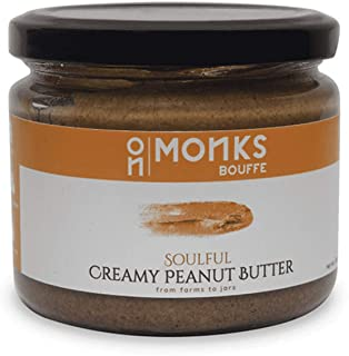 MonksBouffe Soulful Natural Vegan High Protein Sweetened Creamy Peanut Butter of Jaggery Powder 1Kg