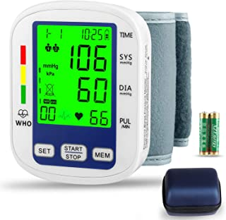 Wrist Blood Pressure Monitor,MOICO Voice Broadcast Automatic Digital Blood Pressure Monitor,Backlight LCD Display-BP Monitor Blood Pressure Cuff Detects Irregular Heartbeat