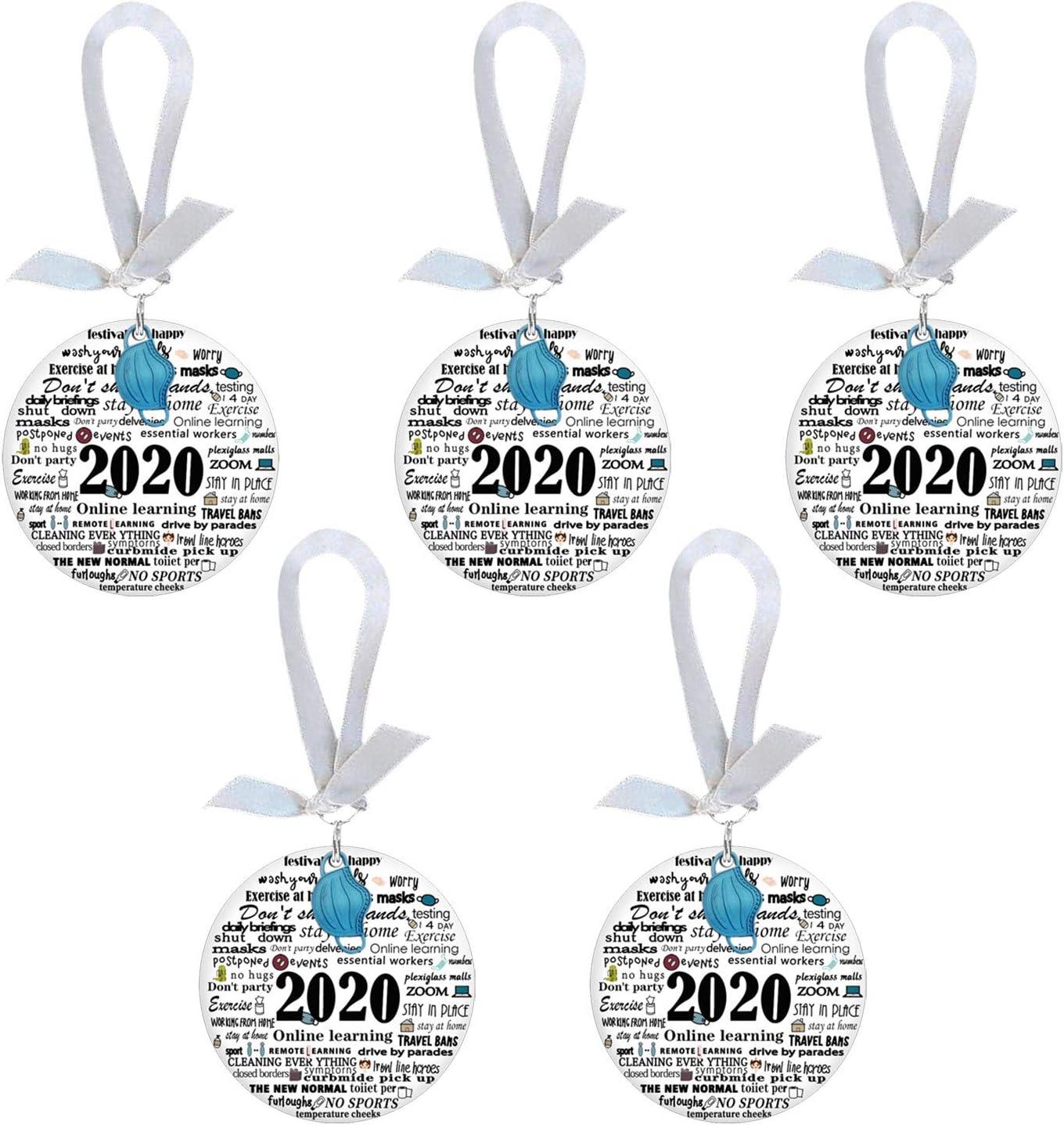 KoLan 2020 Holiday Merry Christmas Tree Decoration Pendant Christmas Hanging Ornaments