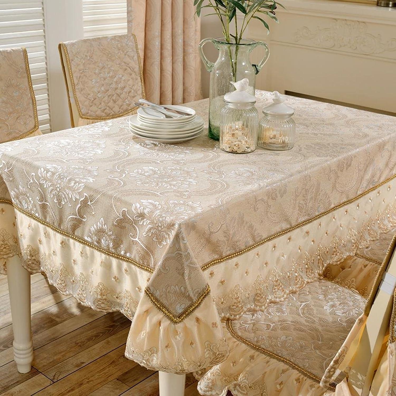 entrega gratis Estilo europeo sala de encaje cuadrado mesa de de de comedor de tela de tela conjunto de tela conjunto de tela hogar de algodón tabla de café de papel tapiz rectángulo , b , 140220cm  las mejores marcas venden barato