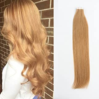Sponsored Ad - Sassina 8A Grade Reusable,Invisible,Seamless Skin Weft Human Extensions Double Side Tape in Extension Straw...