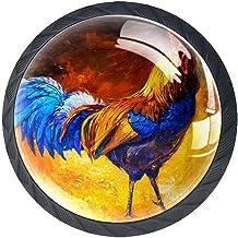 Ladeknoppen Ronde Kristal Glazen Kabinet Handgrepen Trek 4 Pcs,Olieverfschilderij op Canvas Haan