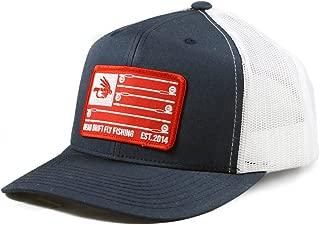 Dead Drift Fly Fishing Hat Stars & Stripes Navy White Trucker Snapback