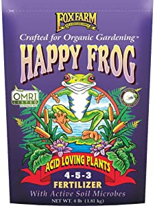 FoxFarm Happy Frog Acid Loving Plants 4-5-3 4 Pound Fertilizer