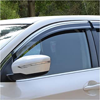 JIUTAI Deflettori per Nissan Navara NP300 Datsun Frontier Fiera D22 1998~2004 4pcs Finestra Deflectors Visor Vision Twnings Guard Shelpers Ripara agli Accessori Deflettori Acrilico