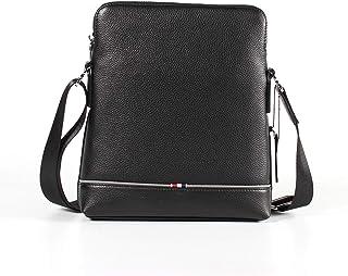 Crossbody Bag Genuine Leather Men's Bag Shoulder Bags Casual Men's Small Square Bag Diagonal Package Cowhide 3L Work Package Outdoor Leather Bag