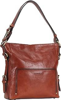 Vintage Full Grains Italian Leather Hobo Handbags for Women Crossbody Purse Ladies Shoulder Messenger Bag