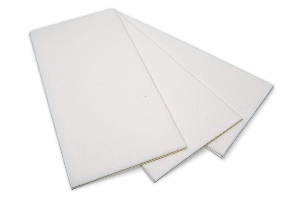 White Dinner Napkins and Guest Hand Towels from Airlaid Paper | Linen Feel | Fancy, Large, and Disposable for Birthday, Wedding, Party, etc, 50 Pack