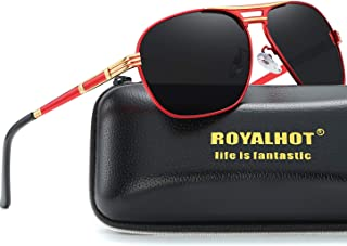 RoyalHot Men Polarized Sunglasses For Women Oval Aloy Frame Sun Glasses Driving Glasses 90092
