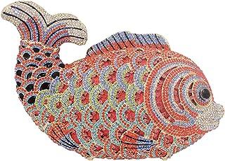 Clutch-Purse Ladies Diamante Crystals Womens Luxury Chain Evening-Bags Glitter Wedding Fish H