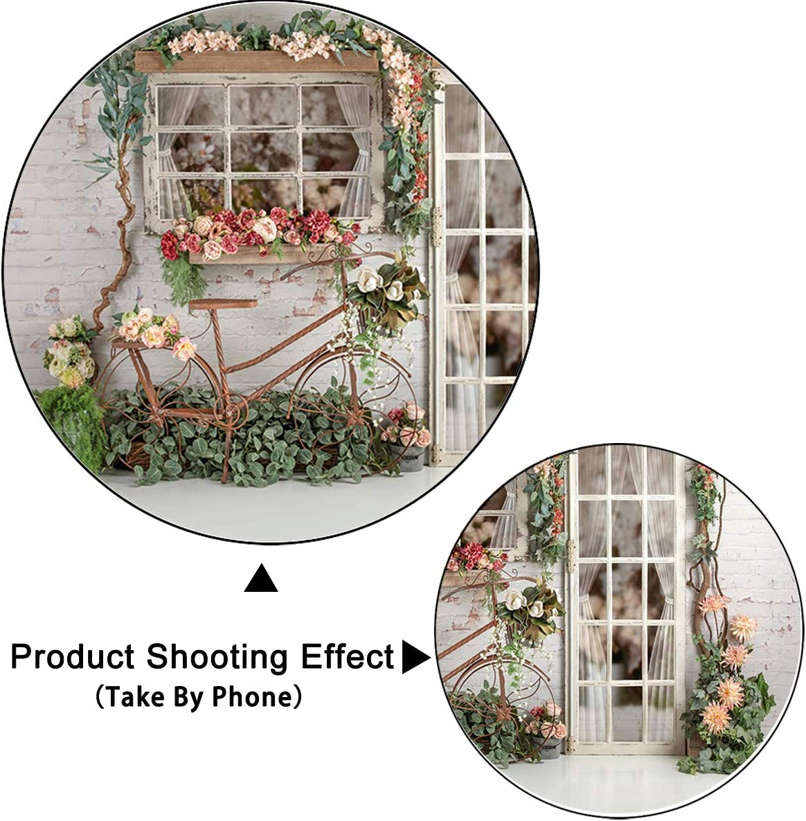 Levoo Flannel Flowers and Grass Wall Background Banner Photography Studio Boy Girl Birthday Family Party Holiday Celebration Romantic Wedding Photography Backdrop Home Decoration 5x5ft,chy262