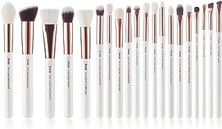 Jessup White Pro Makeup Brush Set, Soft Natural Bristle Foundation Eyeshadow Blending Blusher Buffer Concealer Brush 20pcs...