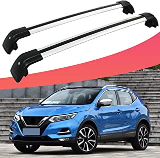SnailAuto Silver Lockable Cross Bars Roof Rack Carrier Cargo Bar Fit for Nissan Qashqai 2018 2019