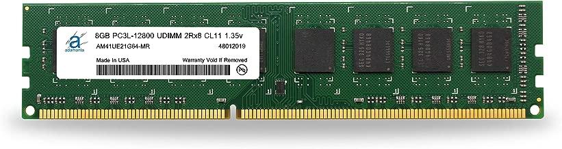 Adamanta 8GB (1x8GB) Desktop Memory Upgrade DDR3/DDR3L 1600MHz PC3L-12800 Unbuffered Non-ECC UDIMM 2Rx8 1.35v CL11 DRAM RAM