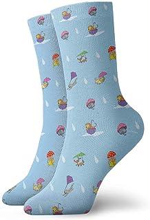 Jhonangel, Está lloviendo, calcetines tobilleros para gatos y perros Casual Divertido para botas deportivas Senderismo Running Etc