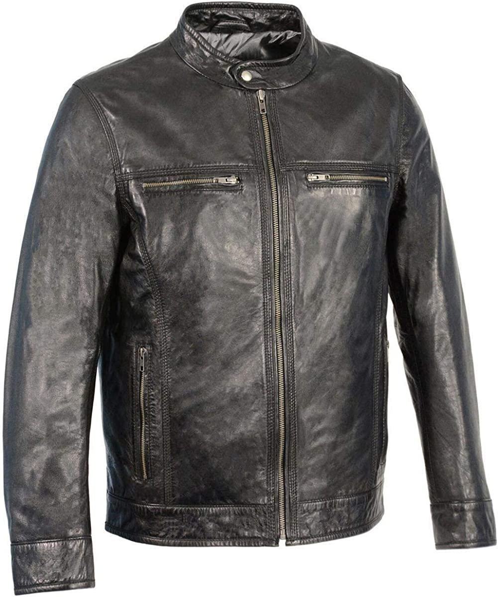 Milwaukee Leather Great interest Tampa Mall SFM1865 Men's Black wit Jacket Classic