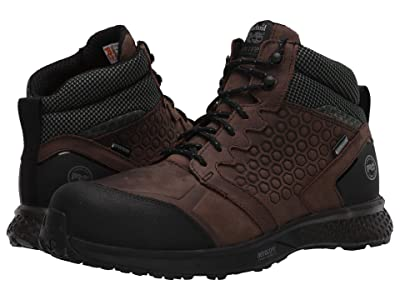 Timberland PRO Reaxion Mid Composite Safety Toe Waterproof (Brown/Green) Men