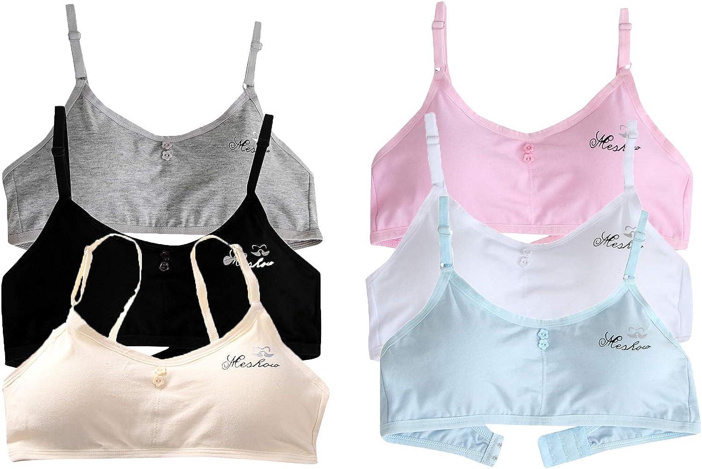 Girls Crop Adjustable Bra Comfort Flex Fit Seamless Cotton Blend Cami Crop Bralette Training Bra Kids Undies