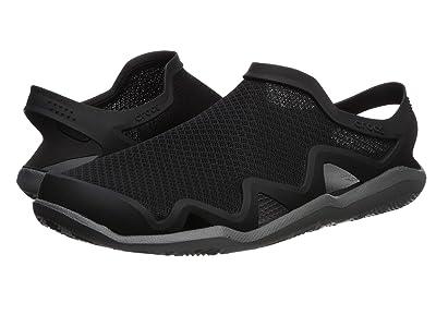 Crocs Swiftwater Mesh Wave (Black/Slate Grey) Men
